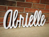 Glitter Painted Script Connected Wood Wall Name/Nursery Decor/Wooden Decor/ Housewarming Gift/Name Plaque/You Pick The Color & Font