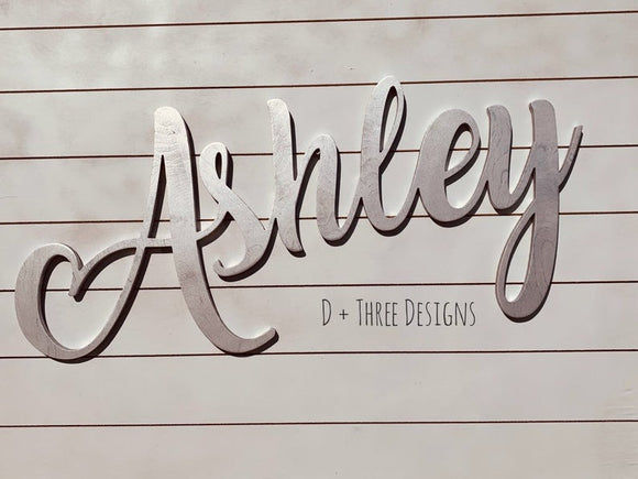 Large Wooden Wall Name / Nursery Decor / Wooden Initials / Name Plaque / Wedding Name / Name Decor