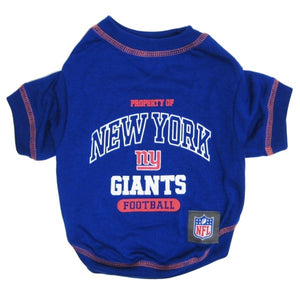 outlet store 2dd86 3a12f New York Giants Dog T-Shirt