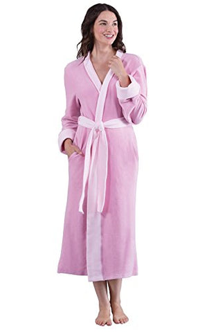 PajamaGram Super Soft Women's Fleece Wrap Robe