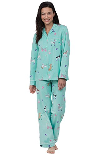 PajamaGram Button Up Pajamas for Women - Women's PJs Sets