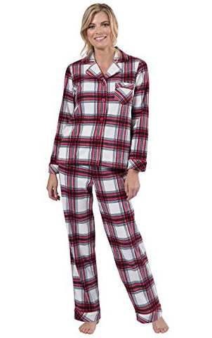 PajamaGram Fleece Button-Front Women's Pajamas