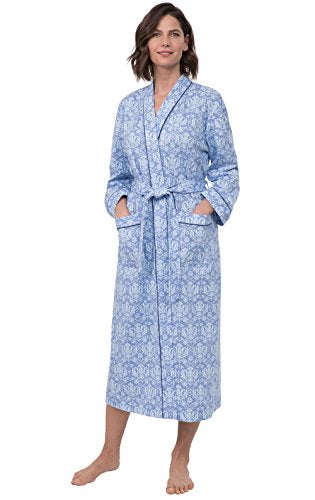 PajamaGram Printed Knit Bathrobe Womens - Womens Long Robes
