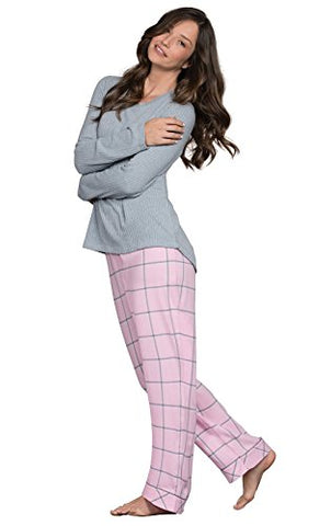 PajamaGram Pajamas for Women Soft - Womens Flannel Pajamas Sets, Pink