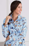 PajamaGram Pet Lover Novelty Cotton Flannel Women's Nightgown