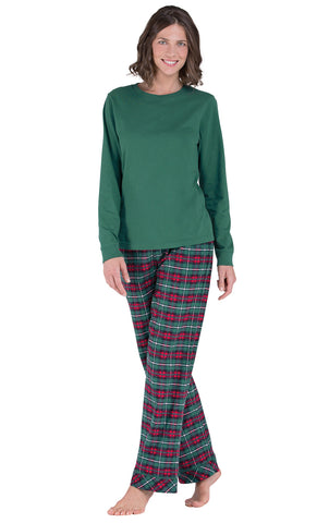 PajamaGram Women Pajamas Set Plaid - Classic Womens Pajamas Sets