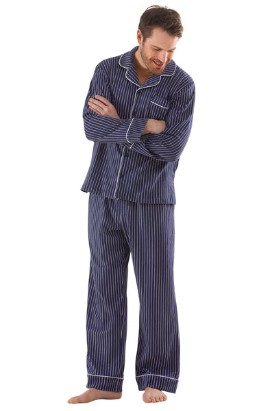 PajamaGram Cotton Button-Front Men's Pajamas