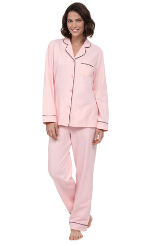 PajamaGram Women's Classic Cotton Jersey Pajamas