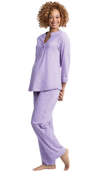 PajamaGram Cotton Maternity & Nursing Sleepwear Pajama Set
