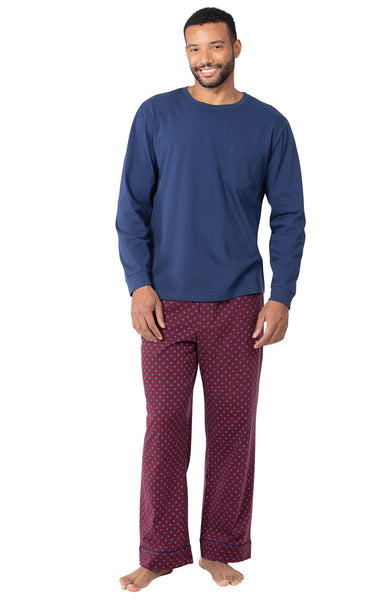 PajamaGram Pajamas for Men Cotton - Mens Pajama Sets, Button Up