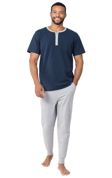 PajamaGram Ringer Tee with Jogger Pant PJ - Men
