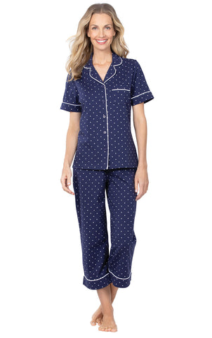 PajamaGram Womens Pajama Sets Cotton - Summer Pajamas for Women