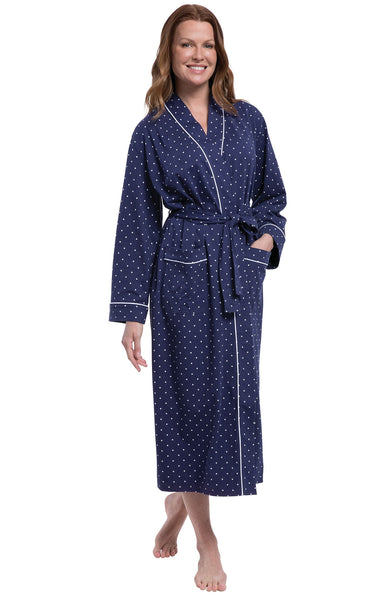 PajamaGram Soft Womens Long Robes - Jersey Knit Long Robes for Women