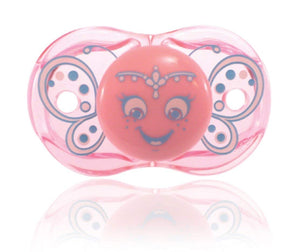RaZbaby Stylish and Comfortable Keep-it-Kleen Pacifier Butterfly
