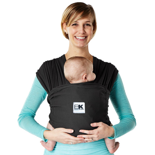 Baby K'tan - Breeze Baby Carrier, Natural Cotton Mesh Sling Wrap Black