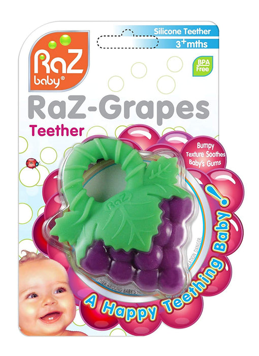 RaZbaby RaZ-Berry Non-Toxic Silicone Teether-Purpal