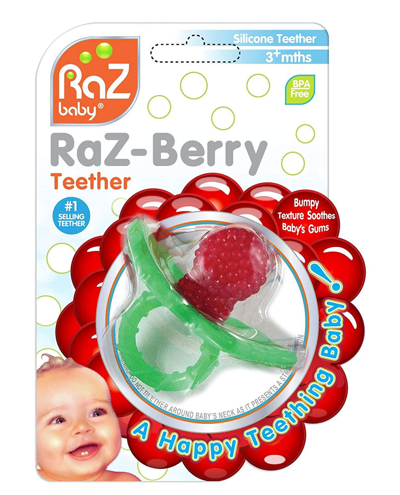 RaZbaby RaZ-Berry Non-Toxic Silicone Teether-Red