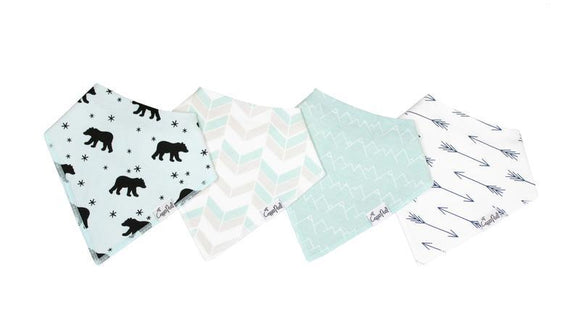 Copper Pearl Bibs, 4-Pack Bandana Bibs For Boys