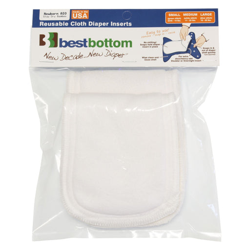 Best Bottom Insert - Stay Dry Bamboo - Newborn - 2-Pack