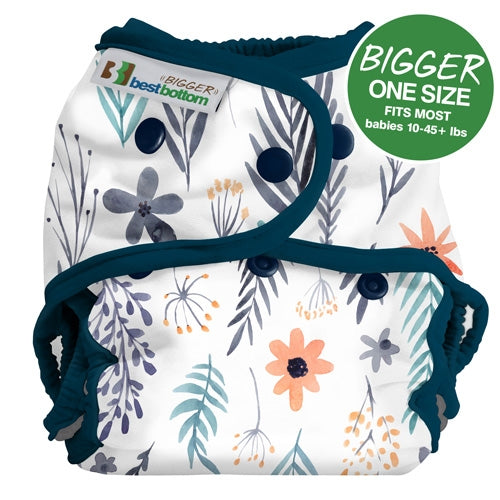 Best Bottom - Bigger Best Bottom Printed Cotton Diaper -Made In The USA