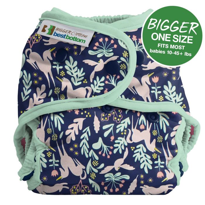 Bigger Best Bottom Cotton - Enchanted Unicorn Sage