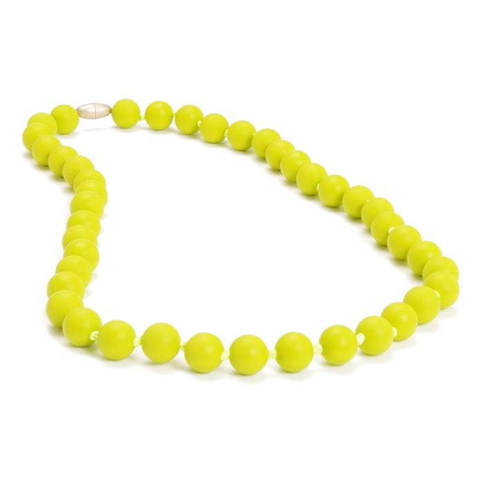 Chewbeads Jane Teething Necklace Chartreuse
