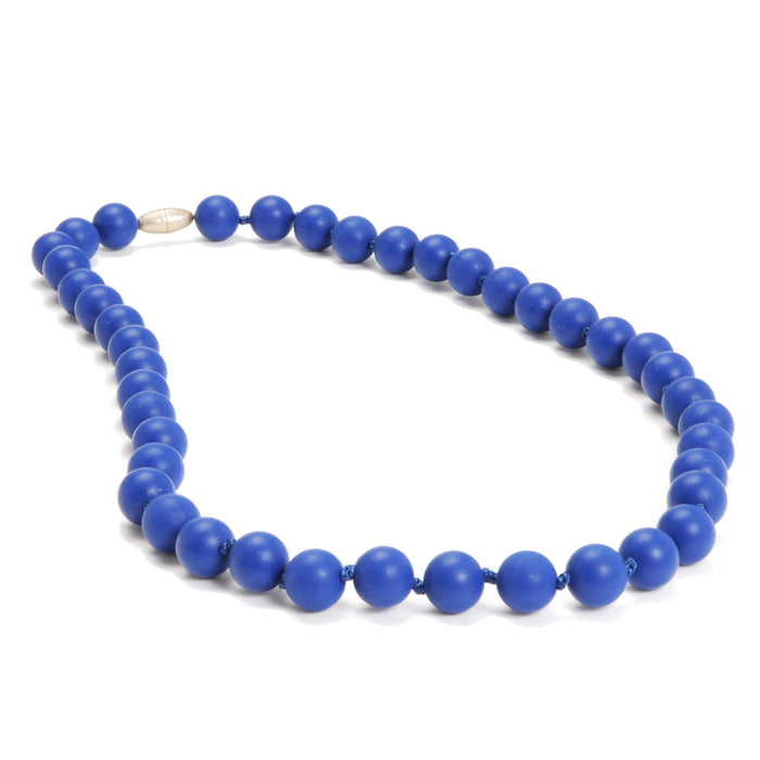 Chewbeads Jane Teething Necklace Cobalt Blue