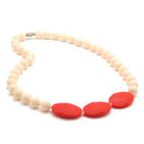 Chewbeads Greenwich Teething Necklace, 100% Safe Silicone ivory