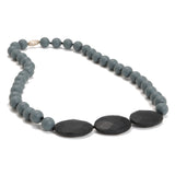 Chewbeads Greenwich Teething Necklace, 100% Safe Silicone Stormy Grey