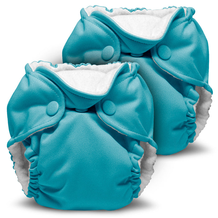 Lil Joey 2 Pack All In One Cloth Diaper, Aquarius
