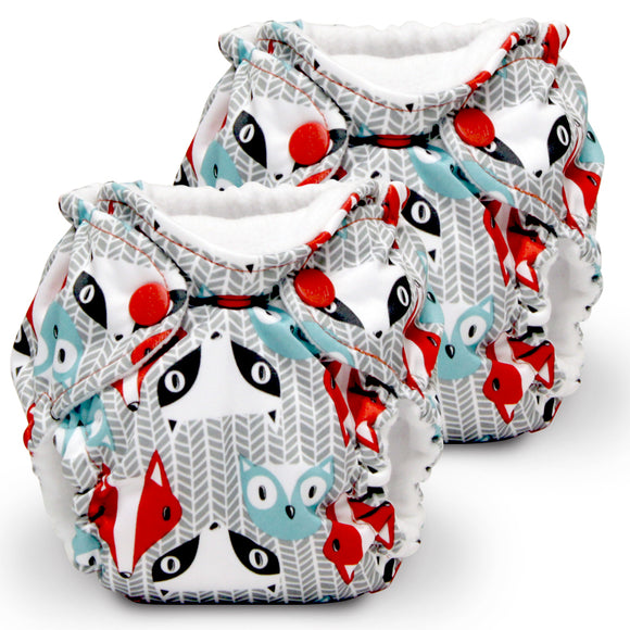 Lil Joey 2 Pack All In One Cloth Diaper, Clyde