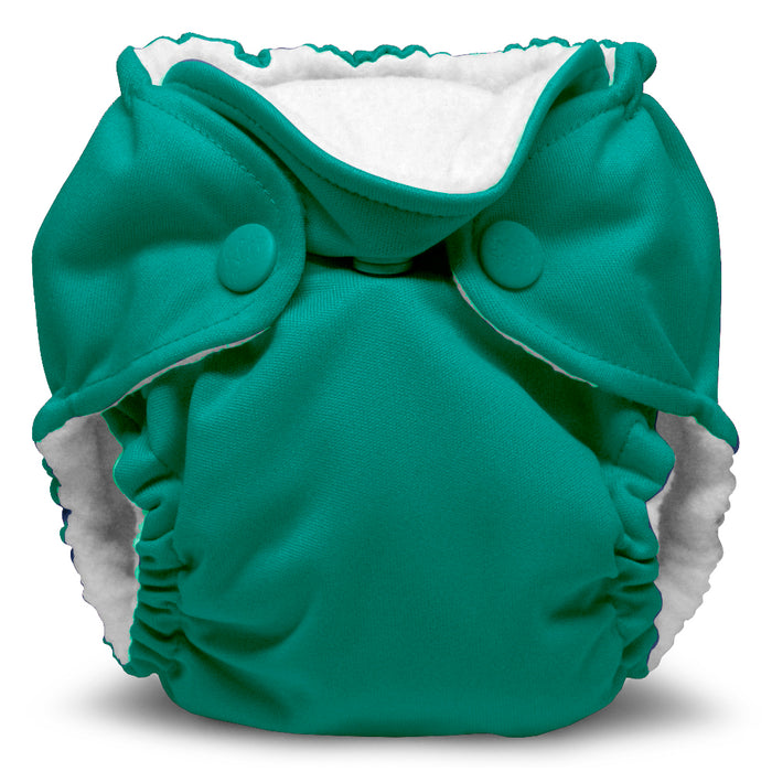 Lil Joey 2 Pack All In One Cloth Diaper, Peacock-1