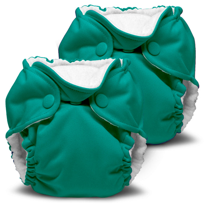 Lil Joey 2 Pack All In One Cloth Diaper, Peacock