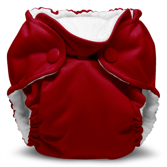 Lil Joey 2 Pack All In One Cloth Diaper, Scarlet-1