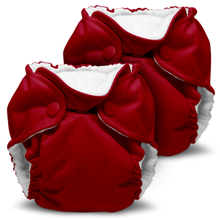 Lil Joey 2 Pack All In One Cloth Diaper, Scarlet