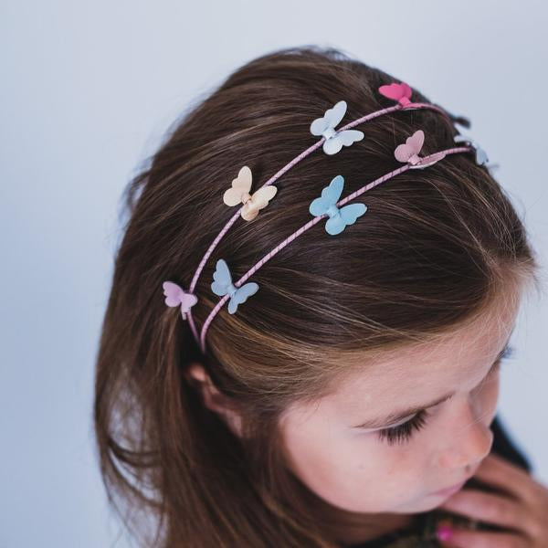 Mimi & Lula - Gorgeous Pastel Bella Buterfly Double Alice Band