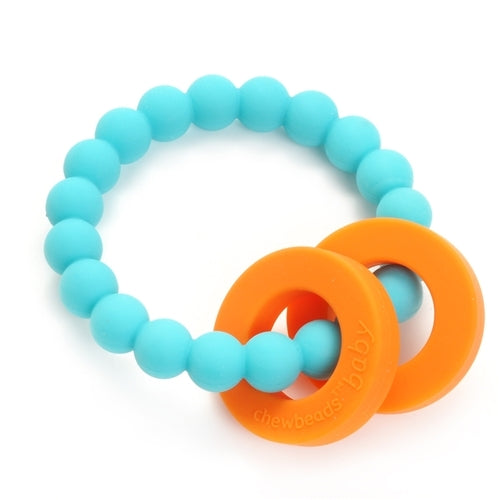 Chewbeads Mulberry Teether 100% Silicone Teething Ring Turquoise