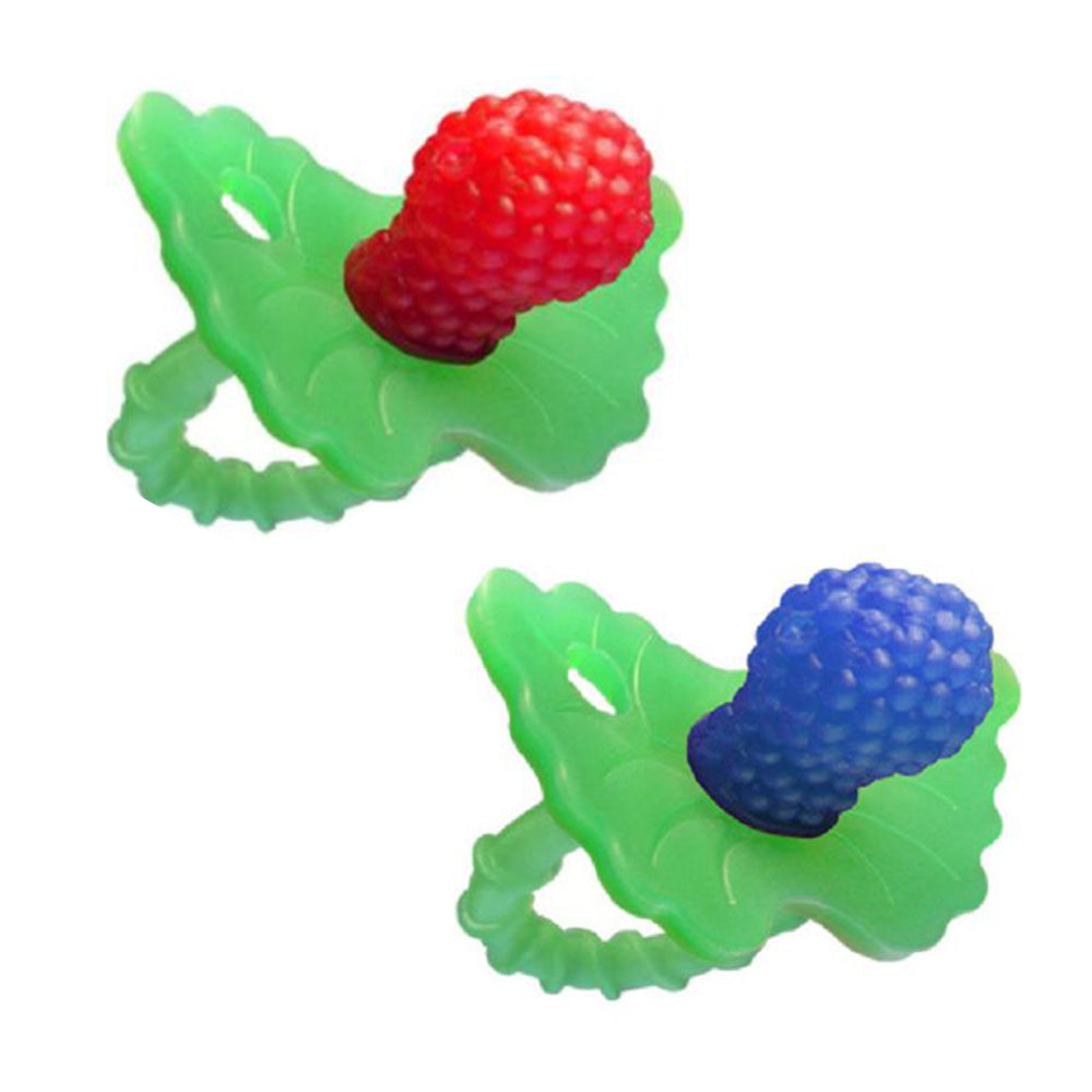 RaZbaby- 2 Pack Of RaZ-Berry Non-Toxic Silicone Red And Blue Teether