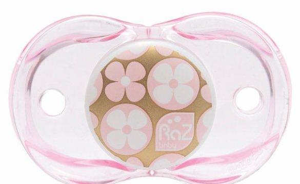 RaZbaby Stylish and Comfortable Keep-it-Kleen Pacifier-Designer Pink