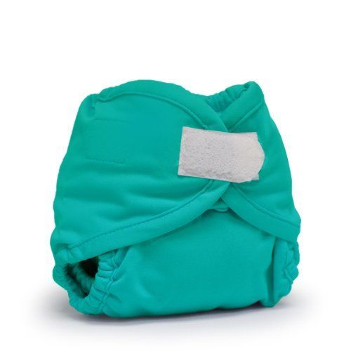Rumparooz Newborn Cloth Diaper Cover Aplix, Peacock-1
