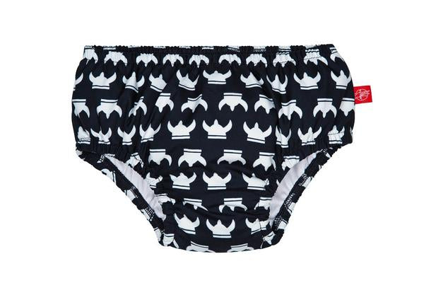 Lassig Swimwear - Resistant Rubber Print Waterproof Swim Nappy Reusable Pant Diaper Baby Toddler Boy Kids Swimming - Viking