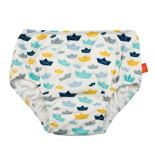 Lassig Swimwear - Resistant Rubber Print Waterproof Swim Nappy Reusable Pant Diaper Baby Toddler Boy Kids Swimming - Paper Boat