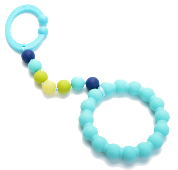 Chewbeads Gramercy Baby Teething Car Seat Toy and Stroller Toy Turquoise