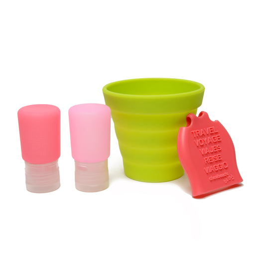 CB GO Tubby To Go Travel Bath Set by Chewbeads Pink