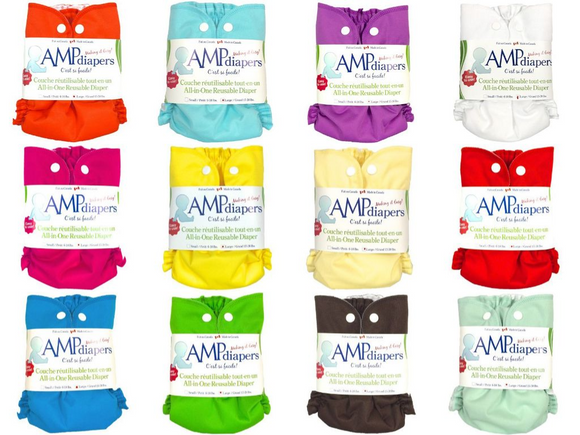 AMP Diapers- Stay dry snap All-in-ones Re-Usable Diapers NEW!