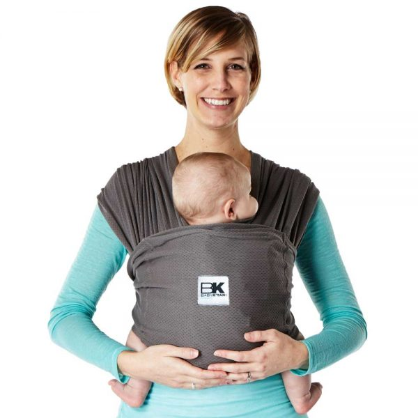 Baby K'tan - Breeze Baby Carrier, Natural Cotton Mesh Sling Wrap  Charcoal