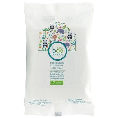 Baby Boo Bamboo - Biodegradable Bamboo Baby Wipes - 12 ct.