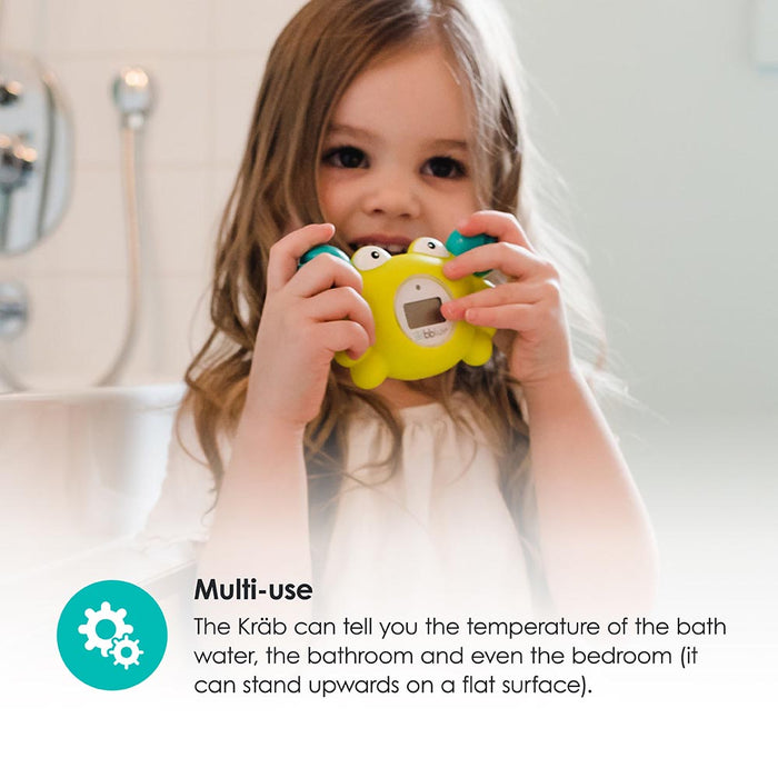 bblüv - Kräb | 3-in-1 Thermometer & Bath Toy in 2 Temperature Mood