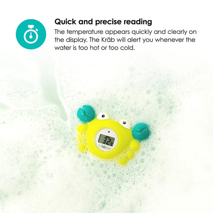 bbluv - Krab | 3-in-1 Thermometer & Bath Toy in 2 Temperature Mode