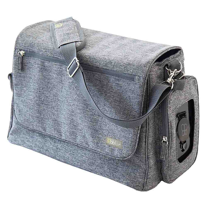 bbluv Complete Diaper Bag Heather Grey